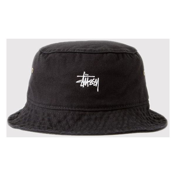 058345ad Stussy Smooth Crusher Bucket Hat - Black ($54) ❤ liked on Polyvore  featuring accessories, hats, black, cotton bucket hat, stussy, bucket hat,  fisherman hat ...