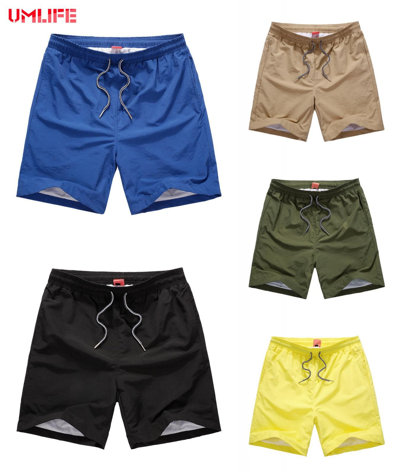 118fdcee2e46d5 [Visit to Buy] 2017 Summer Beach Shorts Men Quick Drying Solid Color Board  Shorts Mens Swimming Shorts Pocket Male Loose Boardshorts Plus Size # ...