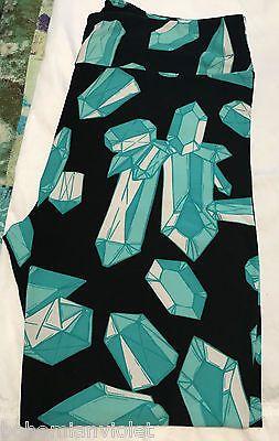6aa314b1f576d8 #ValentinesDay Lularoe Crystals Gems Diamonds leggings Teal Green Black TC  tall curvy UNICORN #ValentinesDay