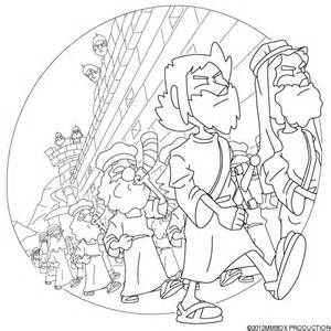 battle of jericho coloring page - joshua and jericho colouring pages page 2 sunday