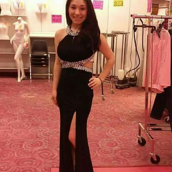 Dress Black with sequence Dresses Backless
