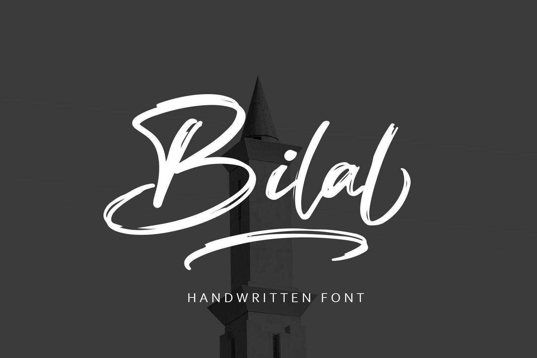 Bilal Brush Script Font is a font with distinctive ...