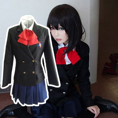 Another Misaki Mei Anime dress Cosplay Costume School Uniform free shipping