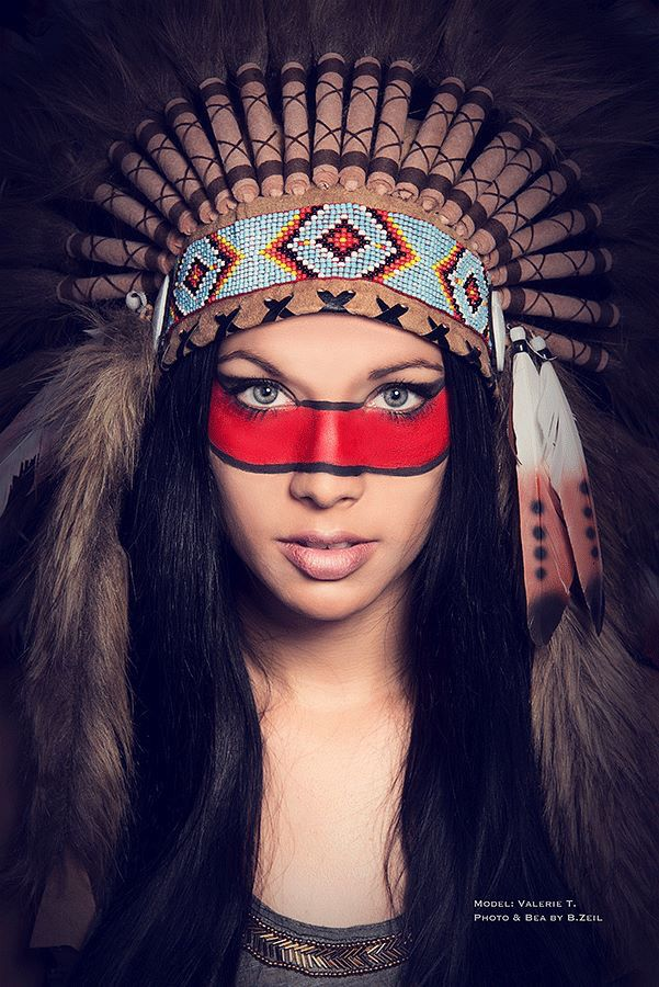 Native American  Indianer  MakeUp  Photography  Studio  Woman  Female