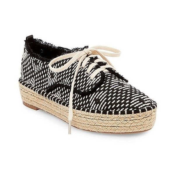 Women's dv Roxie Canvas Lace Up Espadrille Sneakers ($28) ❤ liked on  Polyvore featuring · Black ...