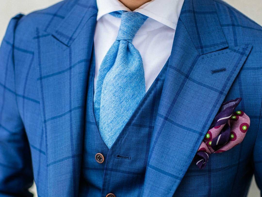 Shades and patterns of blue. #everydayelegance  www.monsieurfox.com