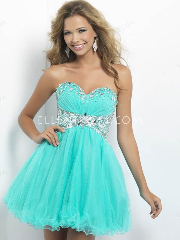 2014 Style A-line Sweetheart Sleeveless Short/Mini Tulle Homecoming ...