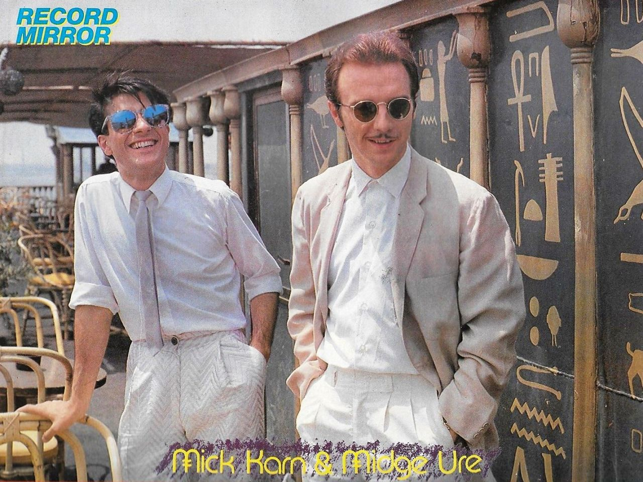 Mick Karn and Midge Ure