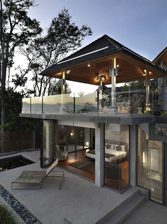 Elegant Mountain Contemporary Home In Colorado Radiates With Warmth: Beautiful Ocean Front House In Phuket By Terri