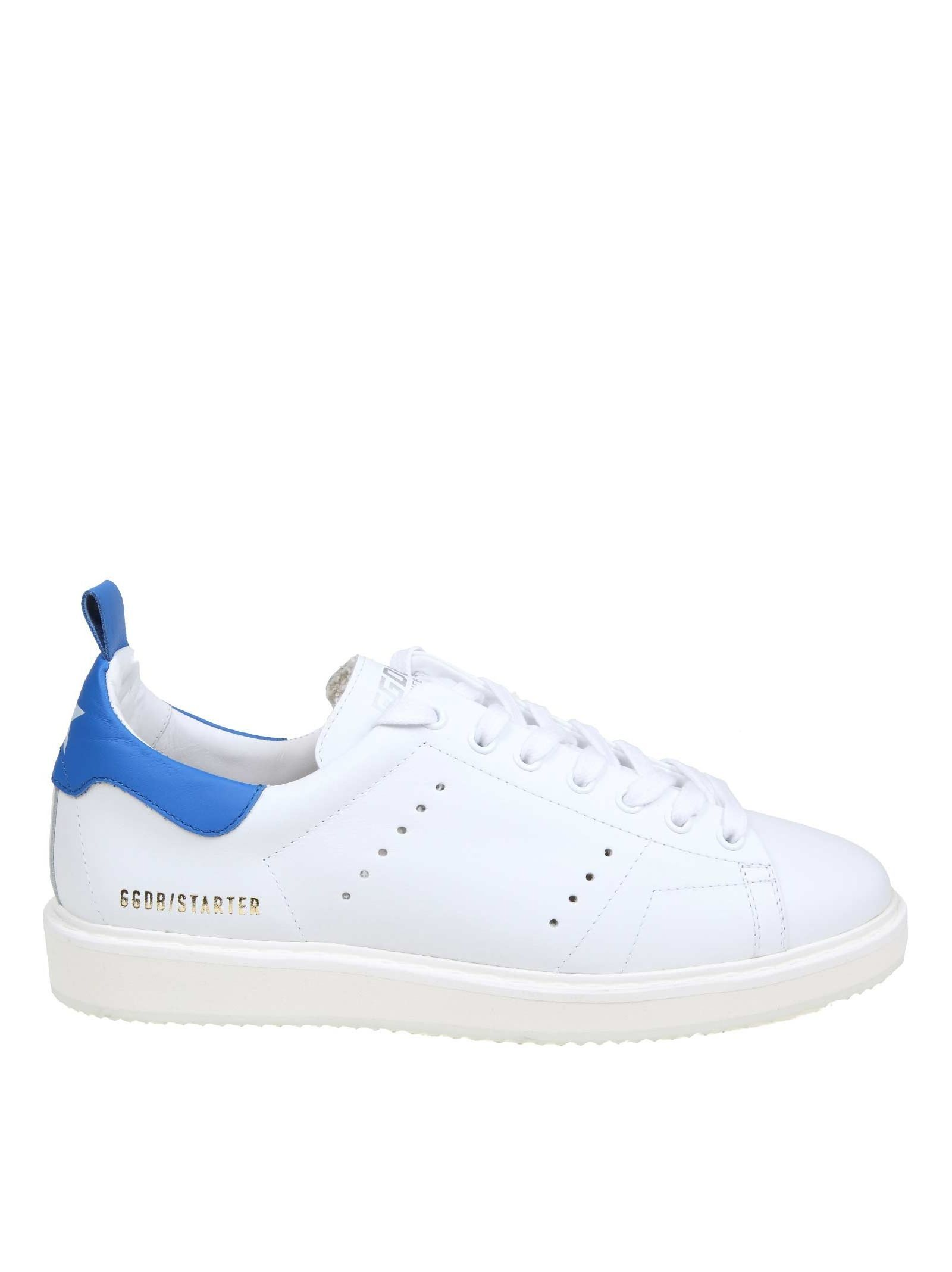 83c41caee4 GOLDEN GOOSE SNEAKERS STARTER SHARK IN WHITE LEATHER. #goldengoose ...