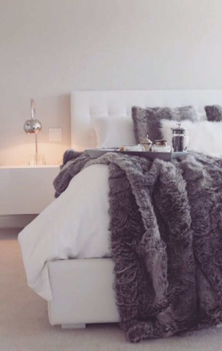 The gucci guide to holiday decorating bedroom ideas for White fur bedroom