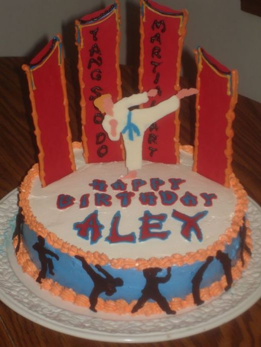 Karate Birthday Cakes and Cupcake Ideas Karate birthday Birthday