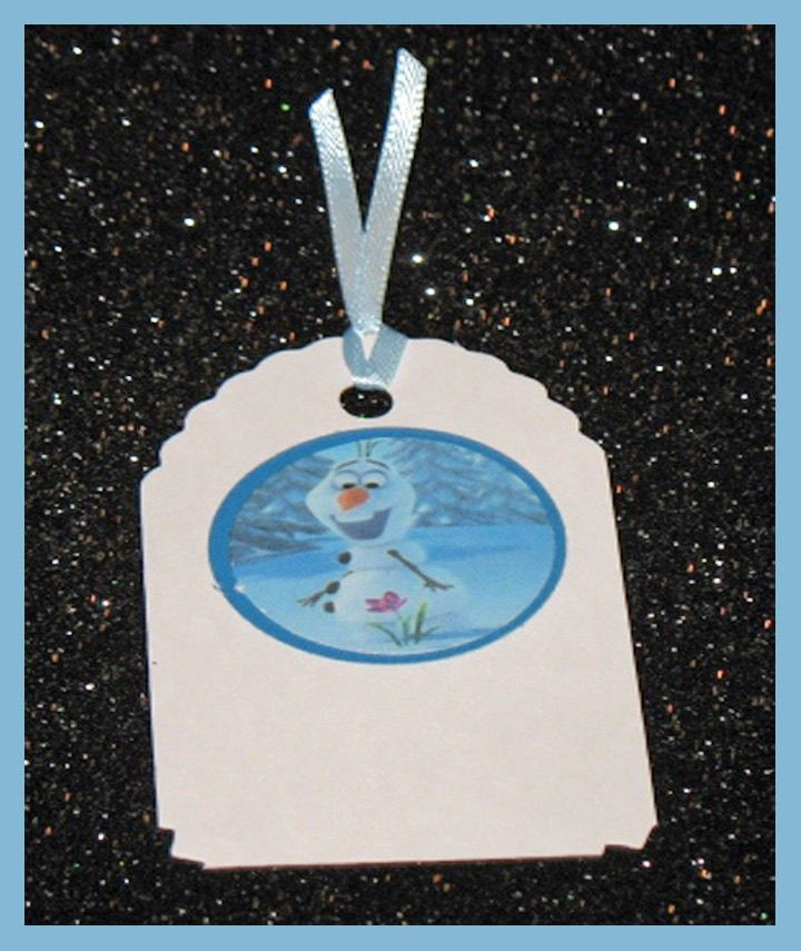 2014 Party Favors - Disney Frozen gift tag Frozen birthday tag Frozen