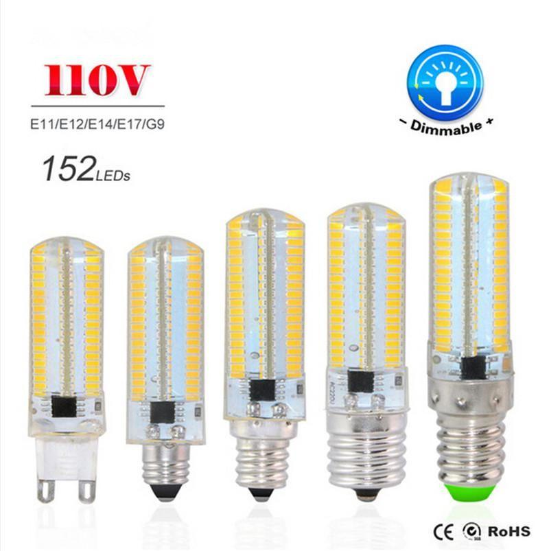 Best Selling G9 E11 E12 E14 E17 Led Lamp 4014 Smd Ac 110v 127v Sillcone Body Led Corn Bulb 152leds Crystal Chandelier Cob Spotlight Halogen Light Bul With Images G9 Led Bulb