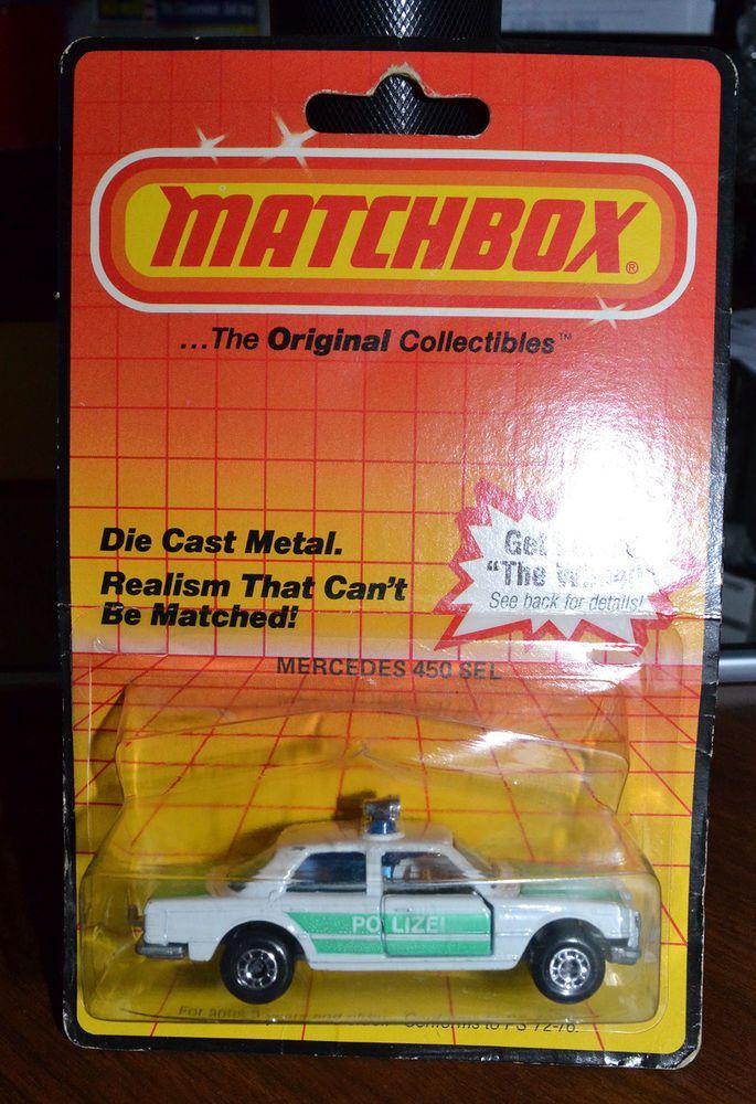 Matchbox Superfast Mercedes 450 Sel Police Car Polizi Mint On Non Card
