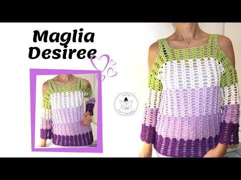 Tutorial Maglia Desiree Maglia Cotone Uncinettolafatatuttofare