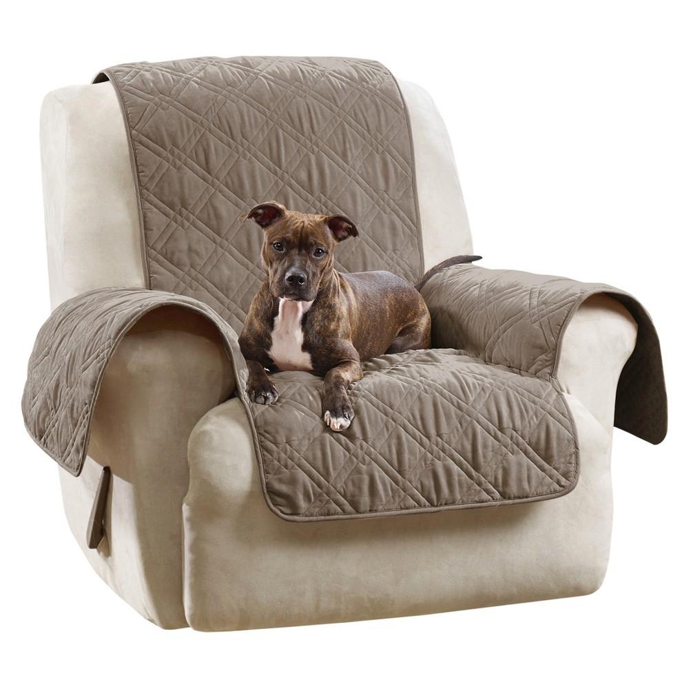 Groovy Gray Furniture Friend Microfiber Nonskid Recliner Cover Machost Co Dining Chair Design Ideas Machostcouk