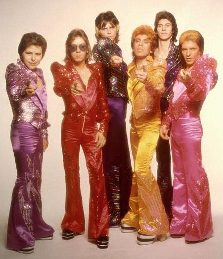 Glitter band glam rock style glam rock fashion