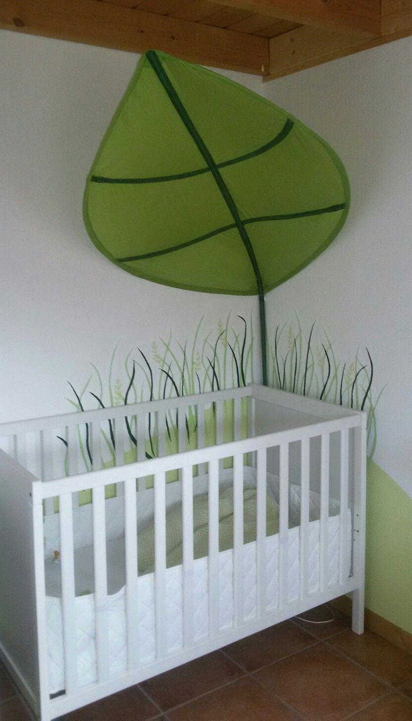 Ikea Lova Blatt Und Gemaltes Gras Kinder Zimmer Kinderzimmer Babyzimmer