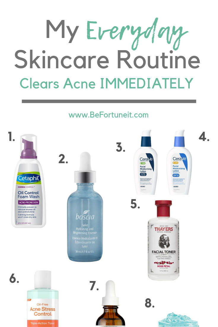 My Everyday Skincare Routine Skincareroutine This Skincare Routine Cleared My Hormonal Acne In A Week Amazing I W Hautpflege Hautpflege Akne Beauty Routinen