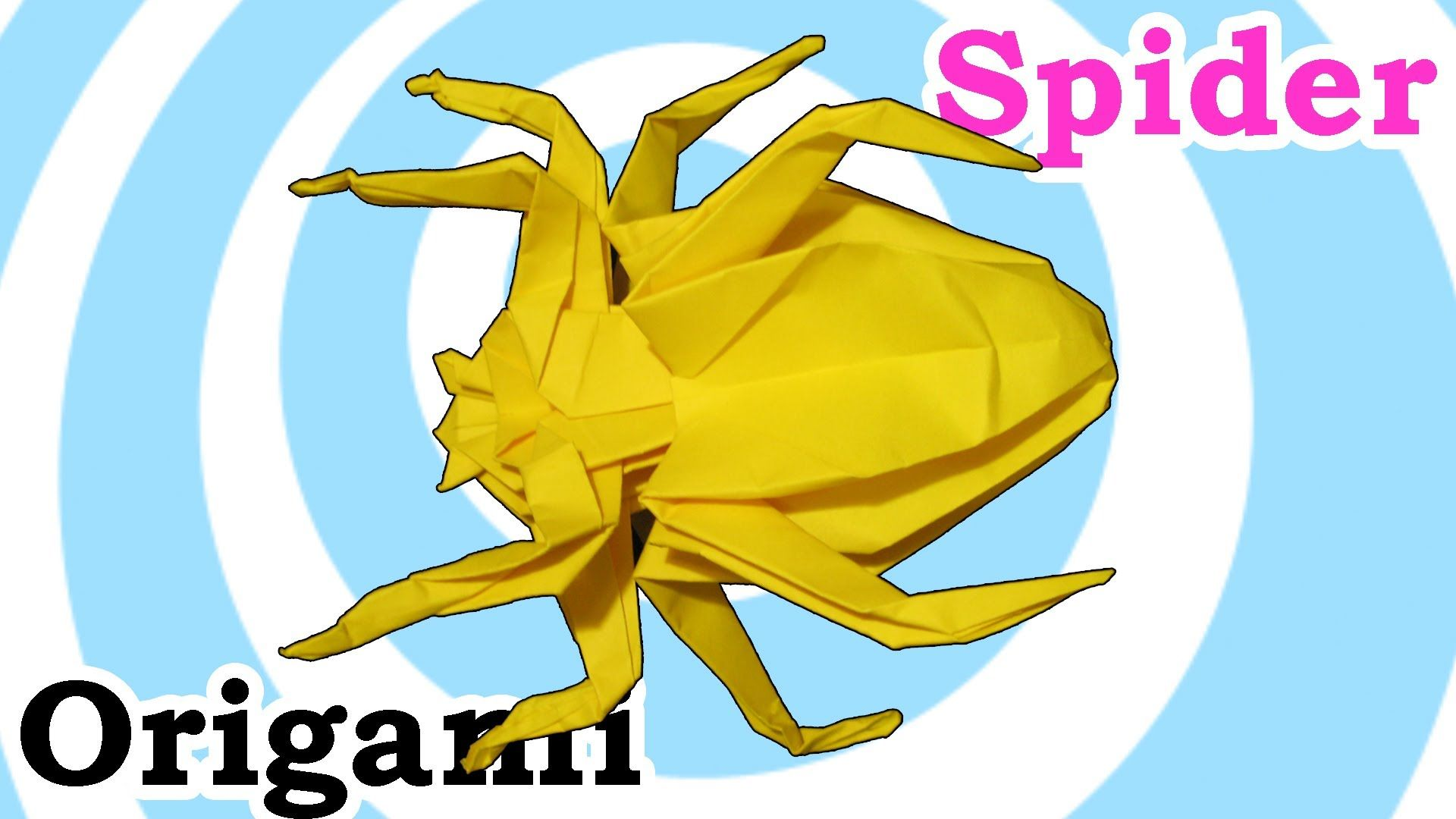 How To Make An Origami Spider Video Tutorial Origami Spider