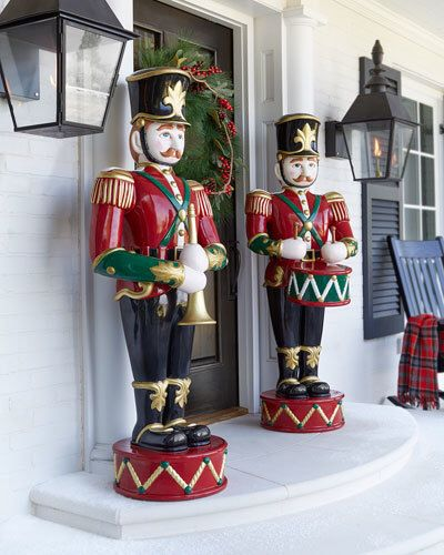 Giant toy soldiers by the door! Outdoor Christmas decor! Christmas