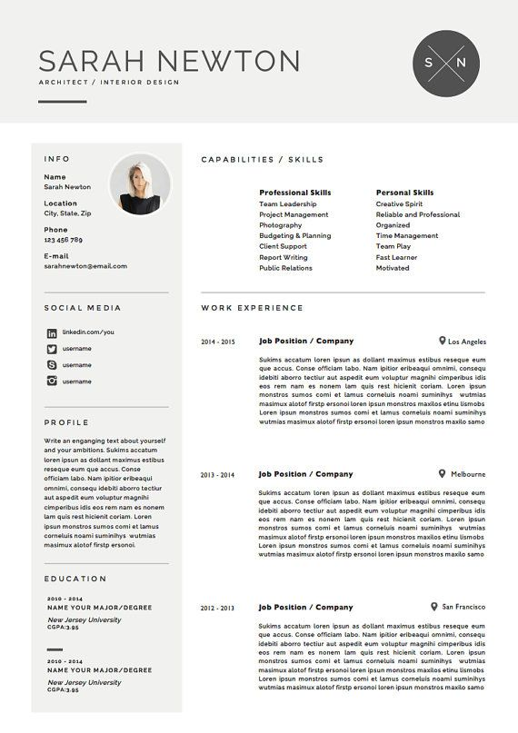 Resume Template and Cover Letter Template for by TheResumeBoutique - download cover letter template