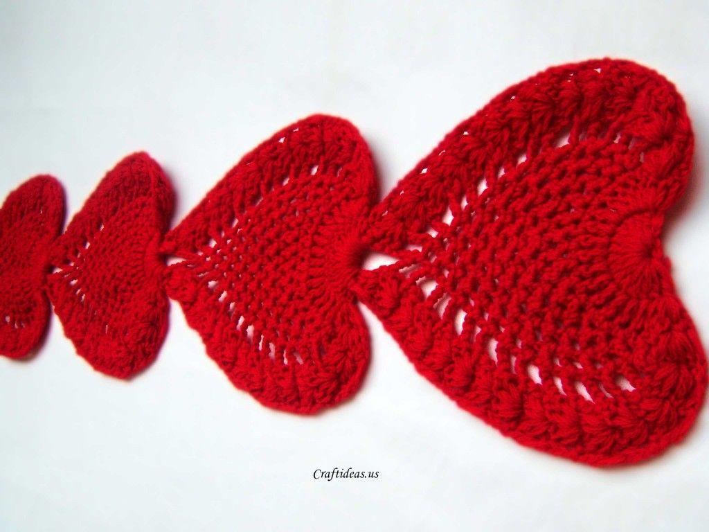 Hobby Craft Ideas Kids Part - 44: Valentine Craft Ideas: Crochet Heart Scarf And Heart Tablecloths - Craft  Ideas - Crafts For Kids - HobbyCraft