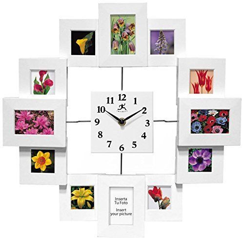 Wall Clock Time Capsule 15 Inch Quartz Movement 12 Picture Frames Hanging Decor Infinityinstruments Artscraftsmissionstyle