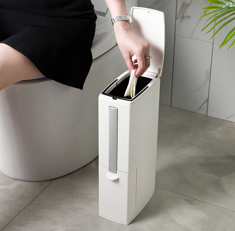 Creative Toilet Brush Multifunction Trash Can Storage In 2020 Toilet Brush Can Storage Trash Can