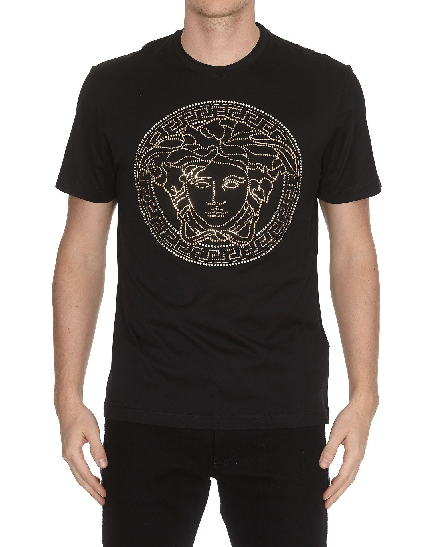 45e518a4 VERSACE STUDDED MEDUSA T-SHIRT. #versace #cloth | Versace | Versace ...