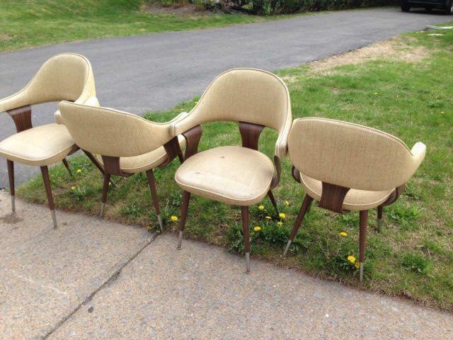 4 chaises vintage chaises fauteuils inclinables