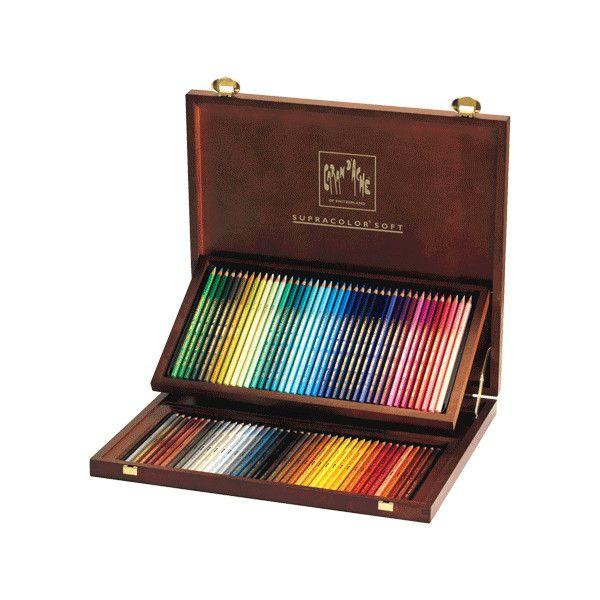 Caran D Ache Artist Supracolor Pencil Woodbox Set Of 80 Rex Art
