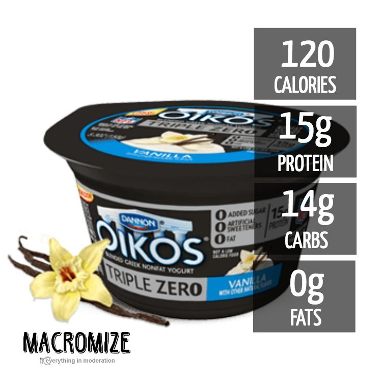 Introducing Dannon Oikos Triple Zero Vanilla Greek Nonfat Yogurt