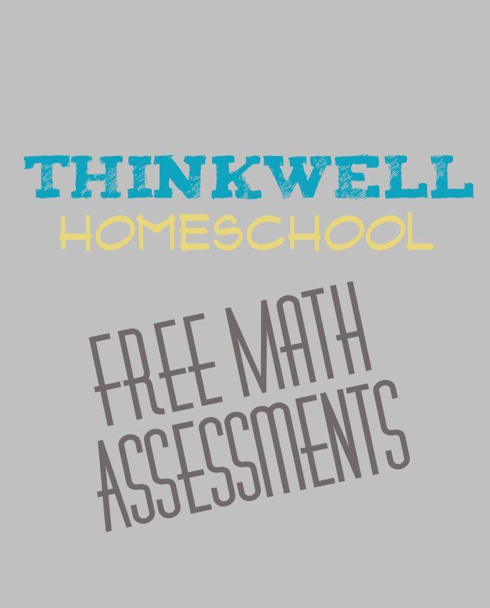 Free Math Assessments from Thinkwell Homeschool  Grade 6-Algebra II