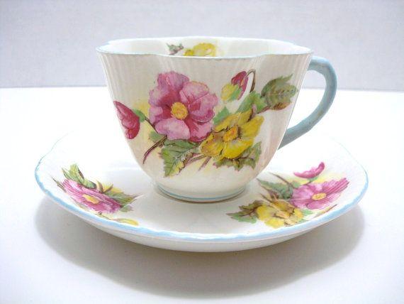 Vintage English Fine Bone China Shelley Cup Tea Cups Fine Bone China Tea Cups Vintage