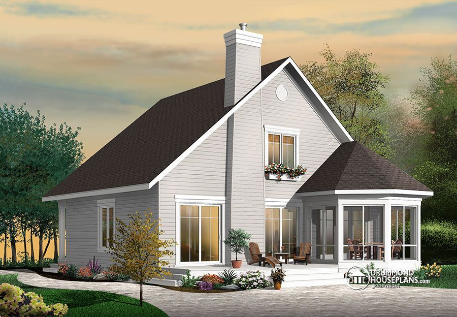 Stunning AFrame 4 bedroom cottage house plan Seasons House