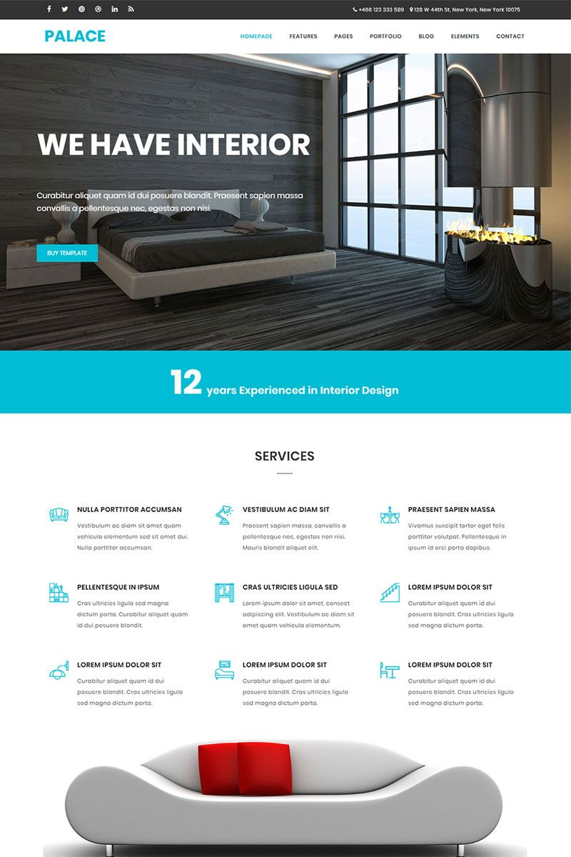 Bootstrap Website Templates Palace  #interiordesign & #architecture #html5 #bootstrap
