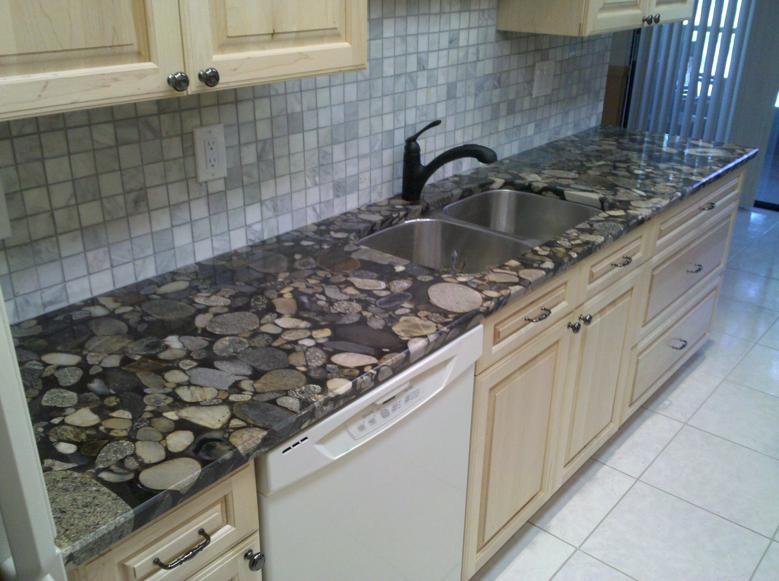 Natural Way To Clean Granite Countertops River Rock Granite Countertops 1500 43 Trend Home Design