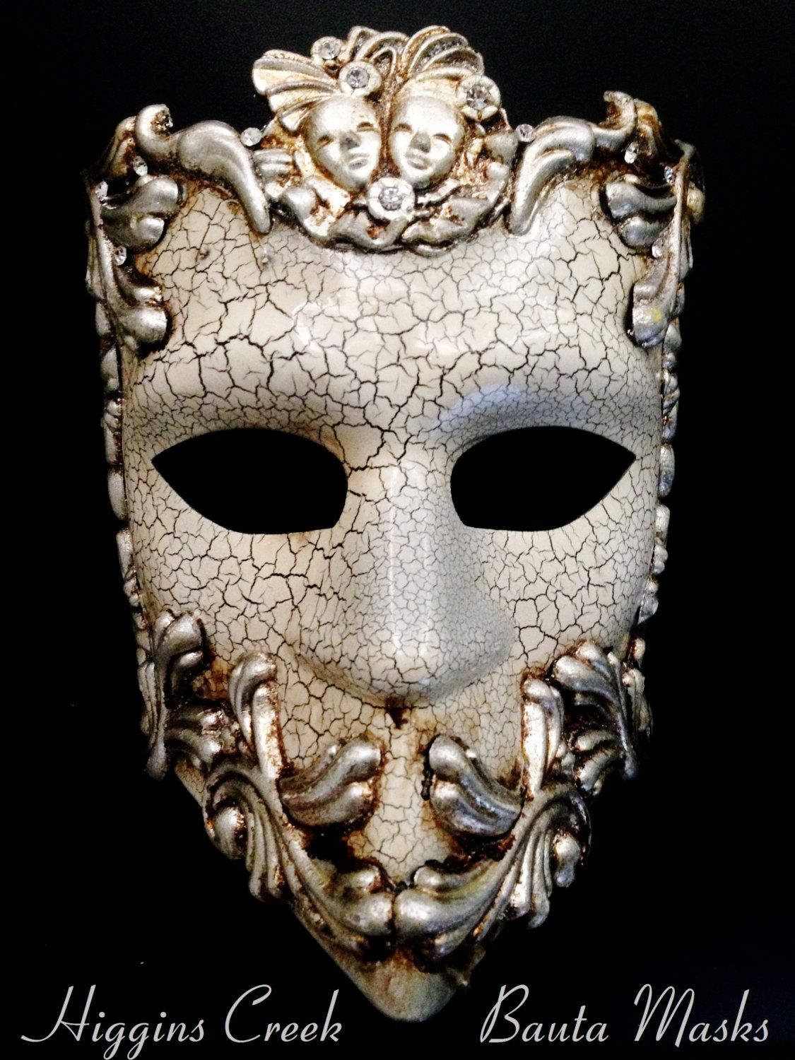 Masquerade mask masquerade mask vine mask metal lace masquerade - Dollar Shipping Mens Bauta Mask Mens Masquerade Mask With Rhinestones Full Face Venetian Masks For Men By Higginscreek On Etsy