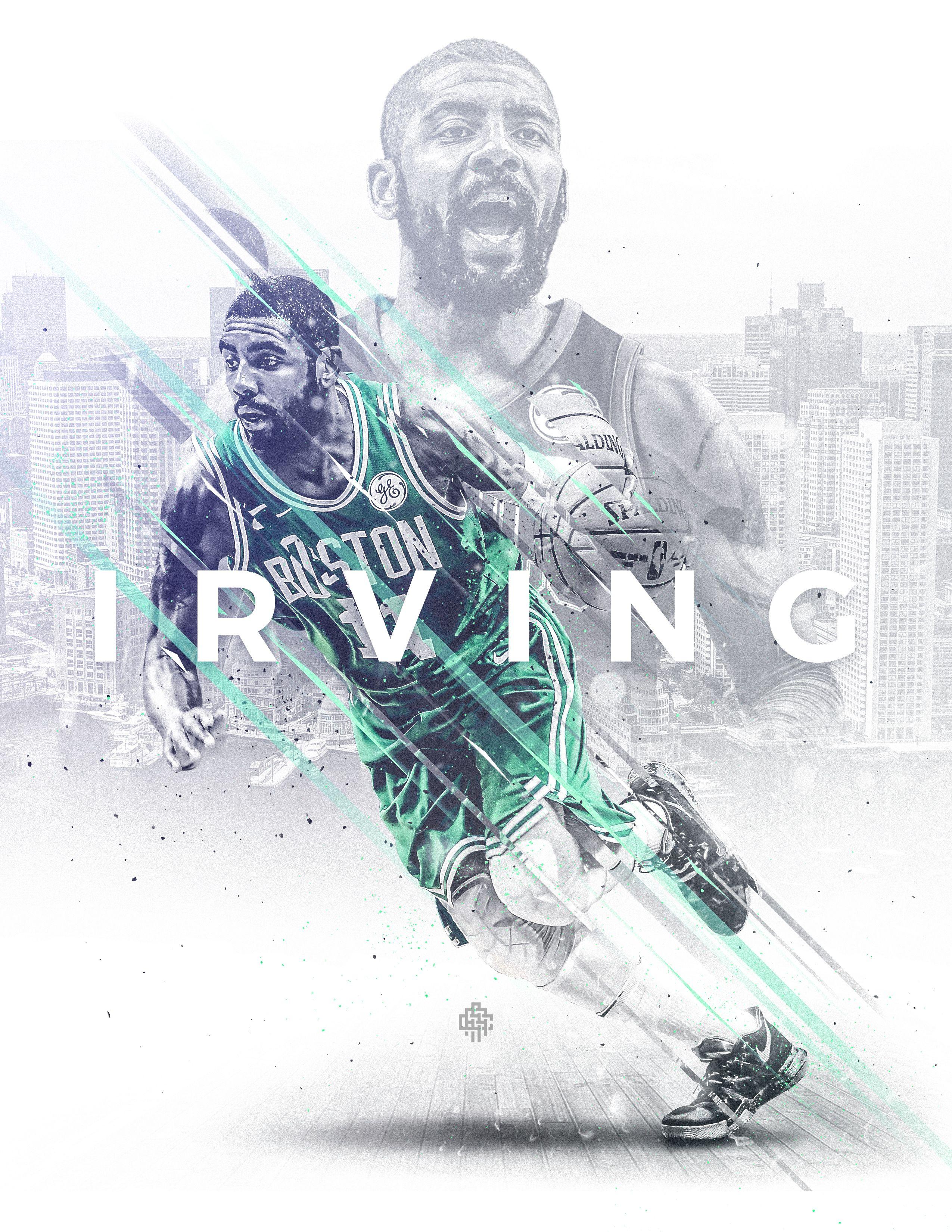 """Şu Behance projesine göz atın """"NBA Art Kyrie Irving"""