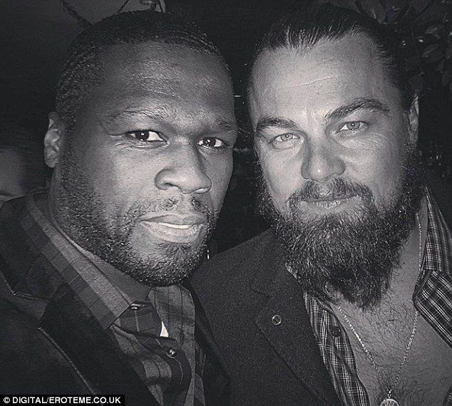50 Cent Posts Selfies With Pals Leo Dicaprio And Scarlett