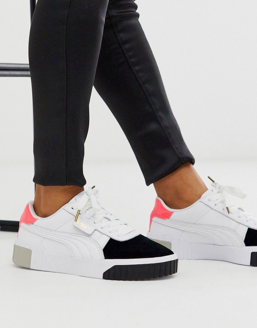 Puma Cali Remix White Color Block Sneakers-multi | Puma cali ...