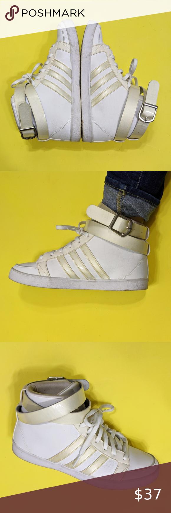 Adidas Neo White Cloudfoam Footbed HighTop Sneaker | Adidas neo ...