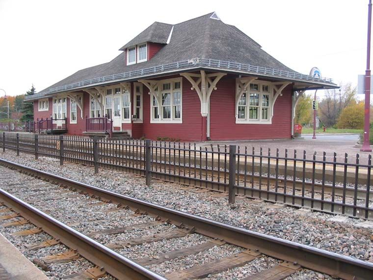 Old Time Trains Train Station West Island Old Train Station