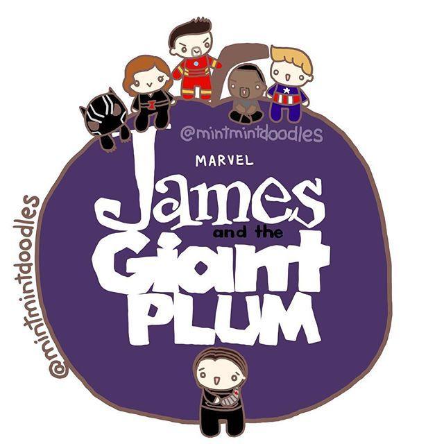 Ah, @imtwinkel mentioned how my last Bucky & plum doodle reminded her of the movie James & the Giant Peach and I couldn't get this image off of my head since last night. Possible Winter Soldier spin-off? #prayforwintersoldiermovie #wintersoldier #buckybarnes #buckysplums #plums #jamesandthegiantplum #blackpanther #blackwidow #ironman #falcon #captainamerica #tchalla #natasharomanoff #tonystark #samwilson #steverogers #captainamericacivilwar @imsebastianstan @robertdowneyjr @chadwickboseman