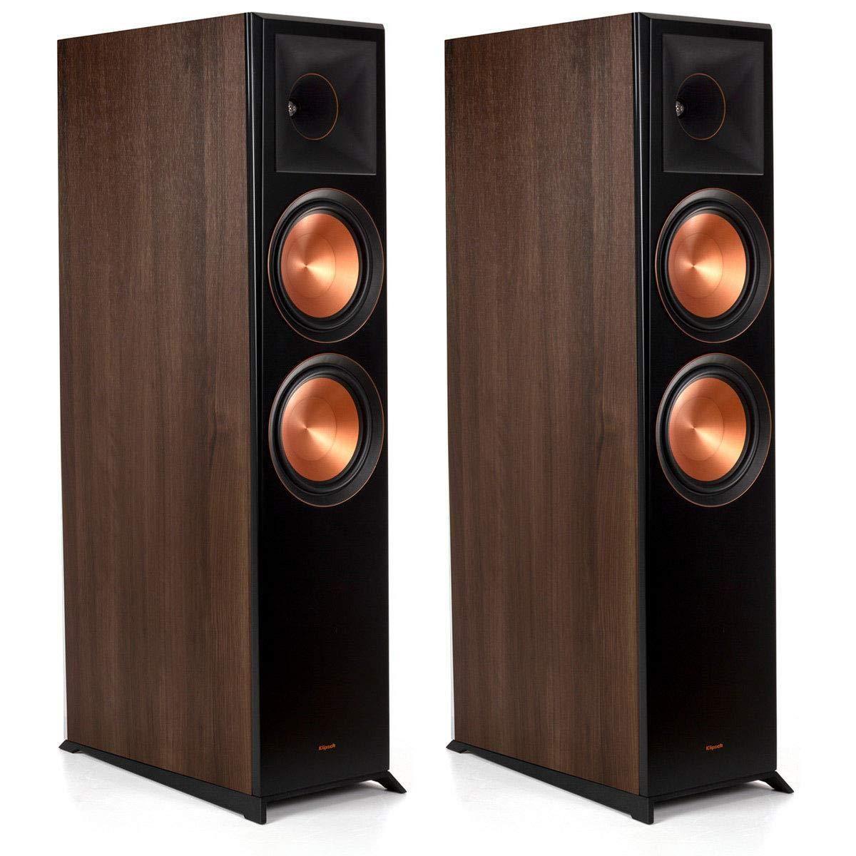 Klipsch Rp 8060fa Floorstanding Speaker Dolby Atmos Pair Walnut Products In 2019 Dolby Atmos Portable Projector Screen Floor Speakers