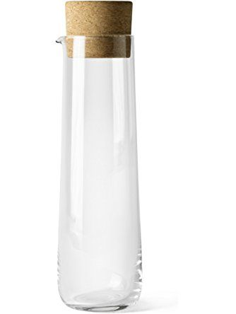 Menu Water Carafe With Cork Lid 40 5 Ounce Creative Danes
