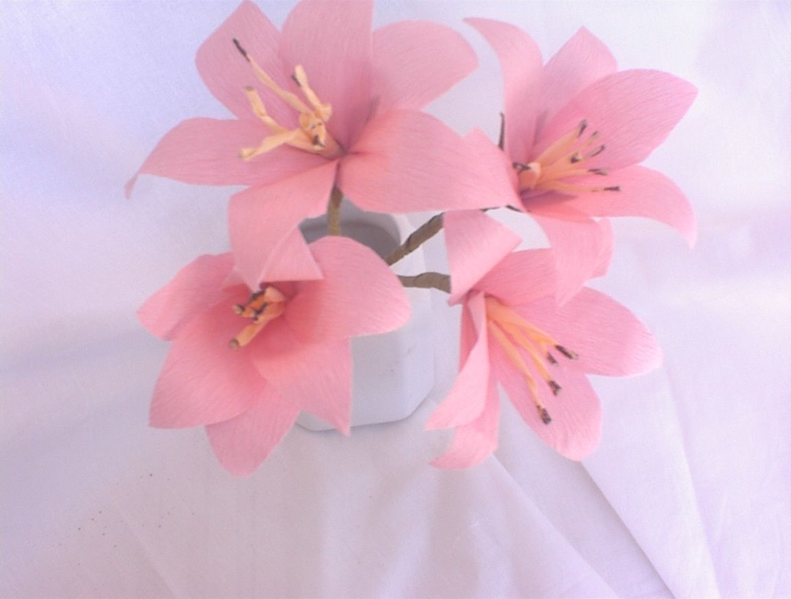 Artificial Flowers Paper Make Roses Lily Tissue