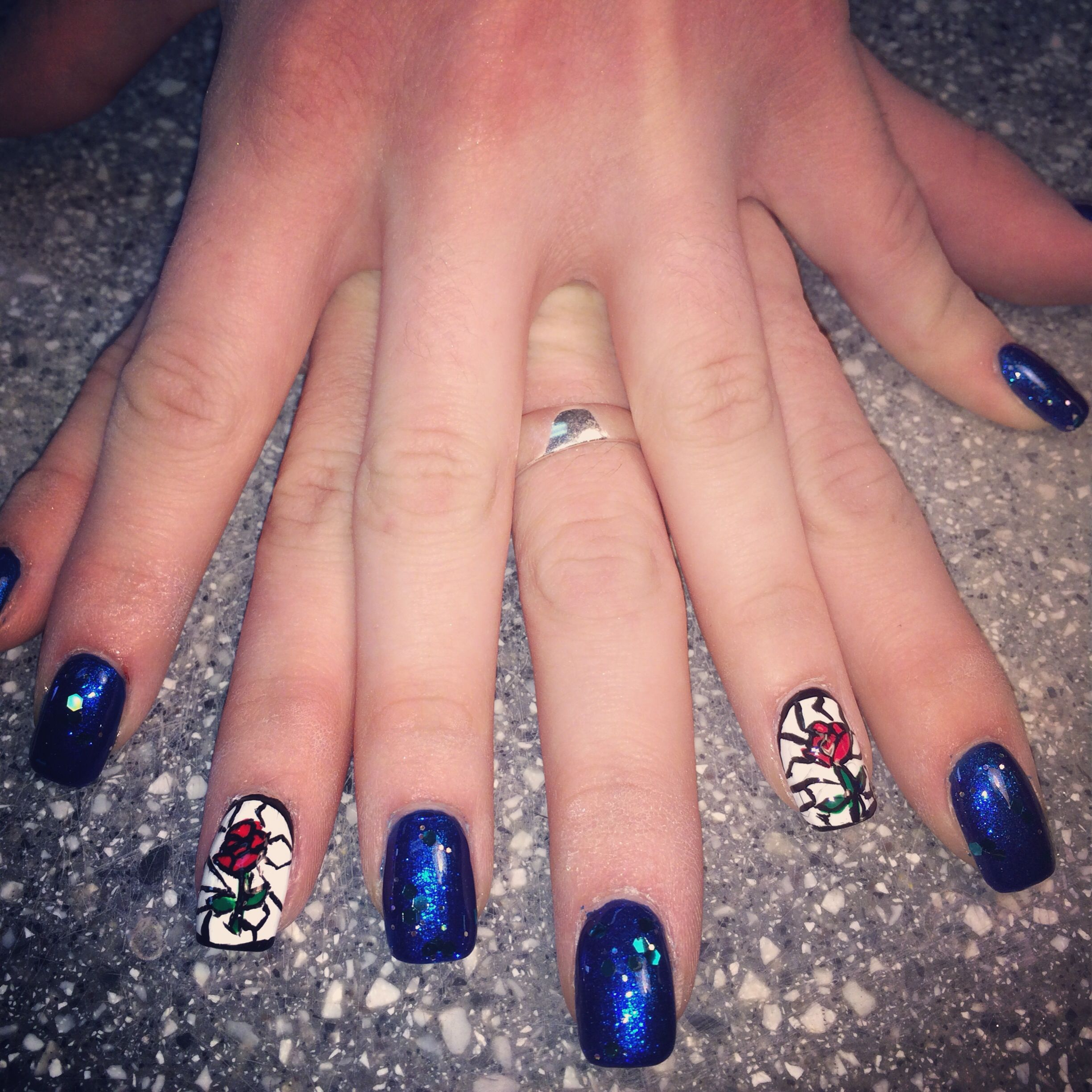 My Beauty and the Beast nails! | My life | Pinterest